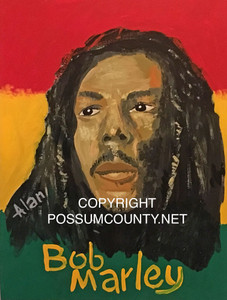 BOB MARLEY PAINTING by ALAN the Portrait Guy - - DISCOUNTED TO $30