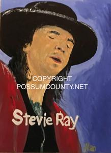 STEVIE RAY VAUGHAN PAINTING by ALAN the Portrait Guy-WAS $60 - NOW $45