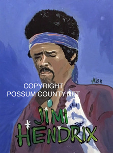 JIMI HENDRIX PAINTING by ALAN the Portrait Guy - WAS $60 - NOW $45