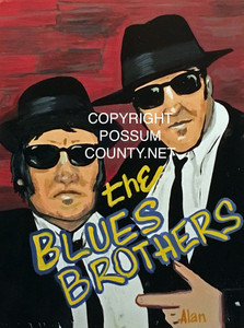 BLUES BROTHERS PAINTING by ALAN the Portrait Guy - WAS $60 - NOW $45