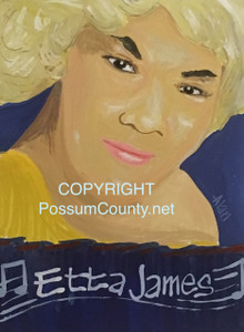 ETTA JAMES PAINTING  by ALAN the Portrait Guy