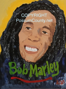 BOB MARLEY PAINTING -- by ALAN the Portrait Guy - WAS $60 - NOW $45