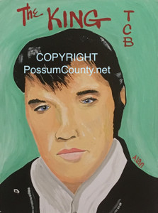 ELVIS the KING Painting by ALAN the Portrait Guy