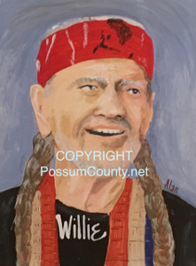 WILLIE NELSON PAINTING by ALAN the Portrait Guy