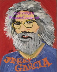 JERRY GARCIA of Grateful Dead by ALAN the Portrait Guy - WAS $60 - NOW $45