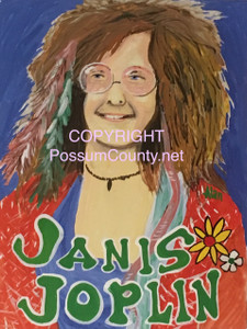 JANIS JOPLIN PAINTING by ALAN the Portrait Guy -  NOW $25