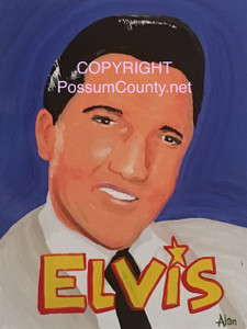 ELVIS PAINTING by ALAN the Portrait Guy - WAS $60 - NOW $25