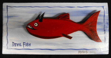 3-D Devil Fish Plaque by George Borum - Reduced to $20