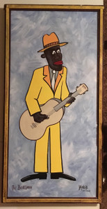 """The BLUESMAN""  PAINTING     >>>> BIG 24"" x 48"""