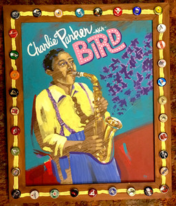 "CHARLIE ""BIRD"" PARKER Saxophone Painting"