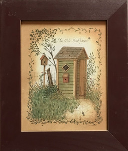 OUTHOUSE #4 - FRAMED UNDER GLASS