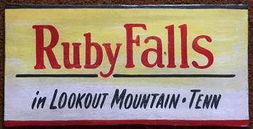 RUBY FALLS - Tennessee - Old Time Sign by George Borum