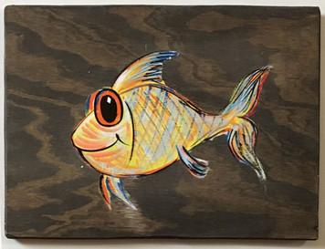 COLORFUL FISH PAINTING by George Borum