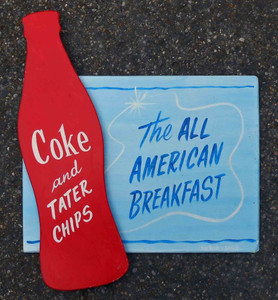 Coke & Tater Chips - All American Breakfast  by George Borum  coca-cola