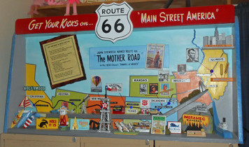 DETAILED - RT 66 - DISPLAY - SHADOW BOX - DIORAMA by George Borum