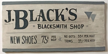 OLD TIME BLACKSMITH SIGN - One of a Kind