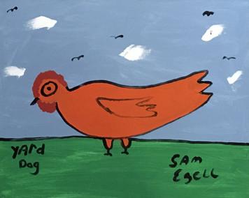 Sam Ezell's YARD DOG #2 - Acrylic Painting on Stretchd Canvas