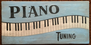 PIANO TUNING OLD TIME SIGN
