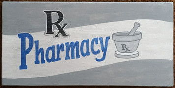 Old Time PHARMACY SIGN