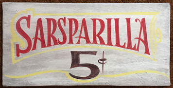 SARSPARILLA - Old West Sign