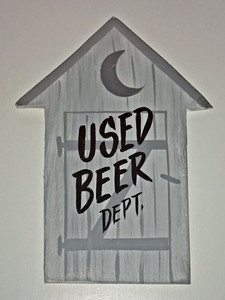 USED BEER DEPT - GREY OUTHOUSE