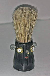 BLACK SHAVING BRUSH MAN by Steve Meadows
