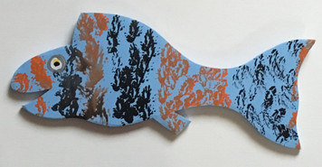 BLUE FISH Cut-out #12 by Steve Knight -WAS $30 - NOW $15