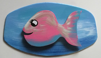 FLIRTY FISH  #8 - Cut-out - Mounted - by Steve Knight, - WAS $40 - NOW $20