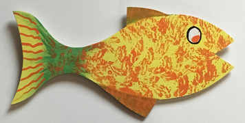 Another Fine FOLK ART FISH # 10 by Steve Knight - WAS $30 - NOW $15