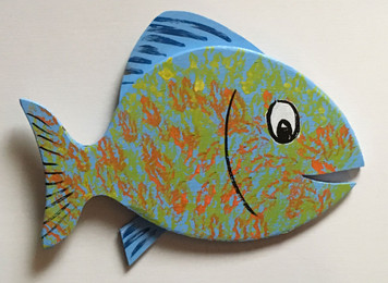 HAPPY FISH #17 by Steve Knight - WAS $30 - NOW $15