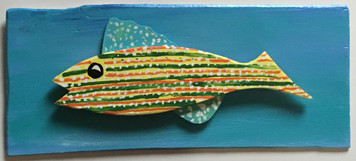 MOUNTED - POLKA DOTTED FISH by Steve Knight - WAS $40 - NOW $20