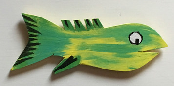 GREEN & YELLER Cut Out Fish #16 by Steve Knight - WAS $20 - NOW $10