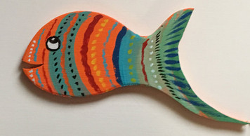RAINBOW FISH Cut-out #18 by Steve Knight - WAS $ 30 - NOW $15