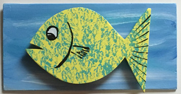FISH #6 - MOUNTED on BACKBOARD by Steve Knight - WAS $40 - NOW $20