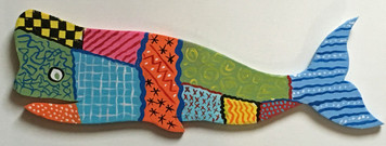 PATCHWORK QUILT DESIGN WHALE #3 by Steve Knight - WAS $75 -NOW $35