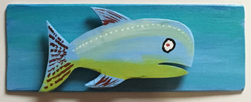 ANOTHER FISH Cut-out Mounted on a Backboard- WAS $50 - NOW $25