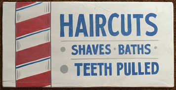 OLD WEST BARBER SHOP SIGN