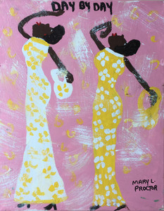 DAY BY DAY - 2 GIRLS  - by Mary Proctor - 2928-C