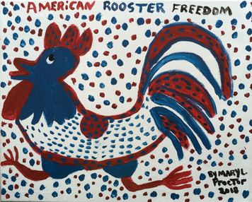 AMERICAN FREEDOM ROOSTER by Mary Proctor - 2930-c
