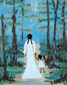 WALKING THRU the CYPRESS SWAMP by Paulette Ford