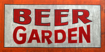 BEER GARDEN SIGN - Old Time Sign