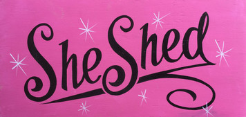 SHE SHED SIGN - Black Trim