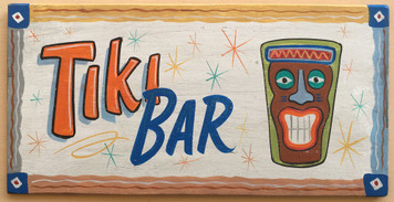 COLORFUL TIKI-BAR SIGN