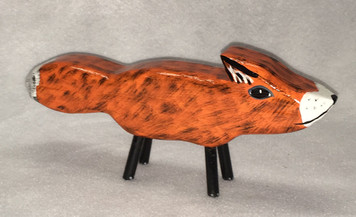 RED FOX CARVING by Jo Ann Butts