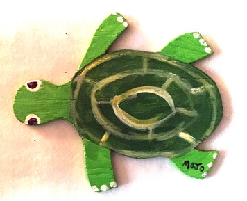 WOOD TURTLE CUT-OUT by MOJO