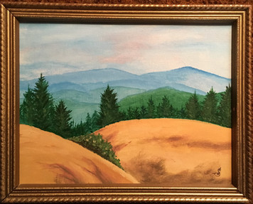 MOUNTAIN SERENITY PAINTING by Sharon Boggs