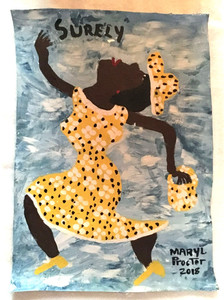 SURELY - Happy Lady Dancing - by Mary Proctor