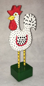 TALL WHITE ROOSTER by Jo Ann Butts