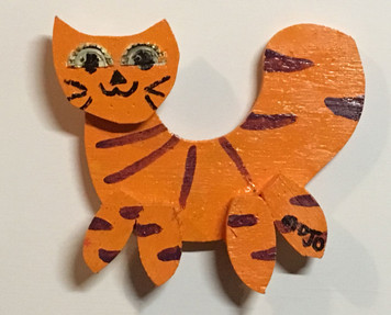 CUT-OUT TIGER CAT by MOJO