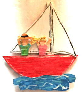 COUPLE on a SAILBOAT by MOJO - WAS $95 - NOW $75